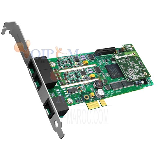 Carte Vocale Analogique PCI-E 4 Ports  FXO + 1FXS B600