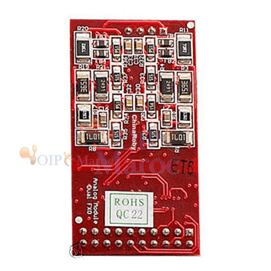 Asterisk card X1600P card to terminate analog telephone lines (POTS). FXO-200