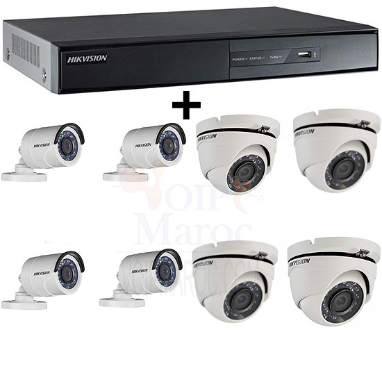 1 DVR 8CH TURBO HD + 4 CAMERAS MINI BULLET TURBO + 4 CAMERAS MINI BDOME TURBO PACK-8-HDTVI