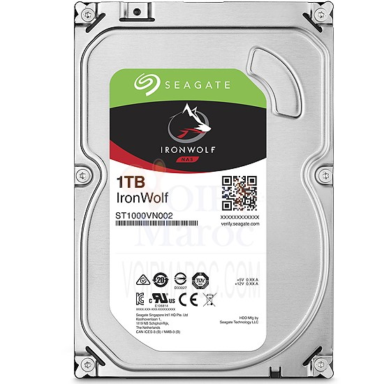 "Disque Dur 3.5"" 1 To 5900 RPM 64 Mo Serial ATA 6 Gb/s pour NAS ST1000VN002"