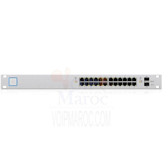 Switch 24 ports Gigabit PoE + géré par UniFi avec SFP US-24-250W