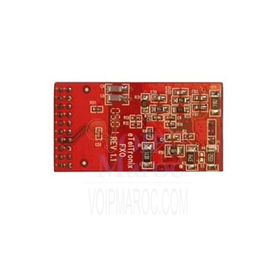 card asterisk FXO 4 and 8 ports analog  module allows to terminate analog telephone lines (POTS FXO-100